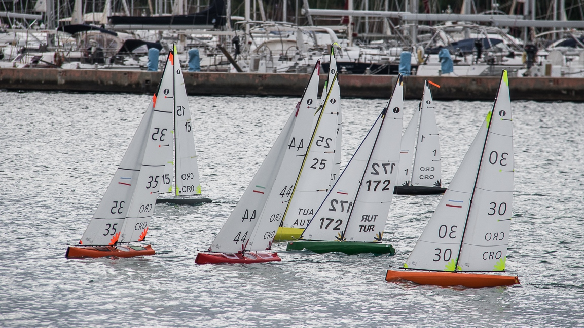 13. Rogoznica's Cup  •「IOM」•  Qualifications, Fleet Bravo R3